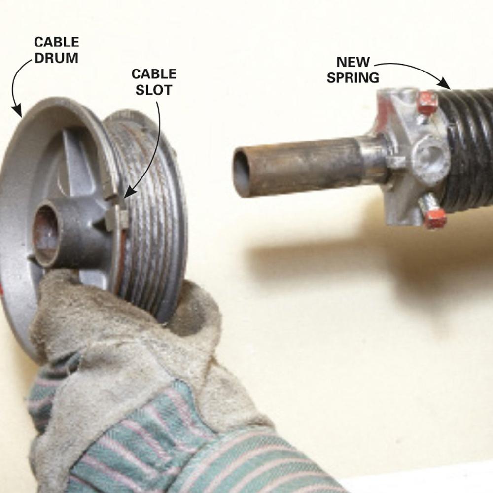 How To Repair Garage Door Springs And Cables Garage Door Springs Overhead Garage Door Garage Door Spring Repair