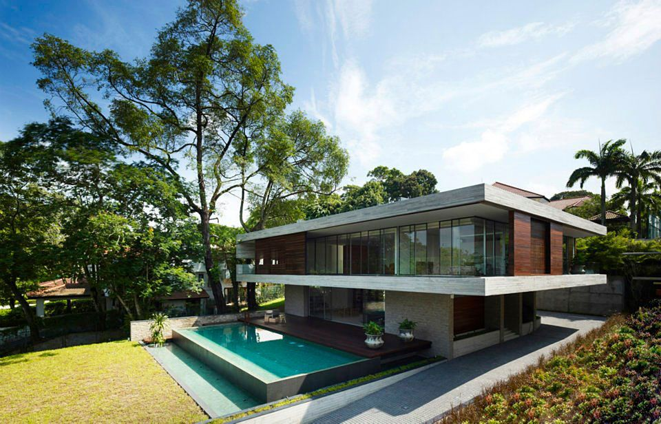 Modern JKC1 House by ONG&ONG - CAANdesign | Architecture and home design blog
