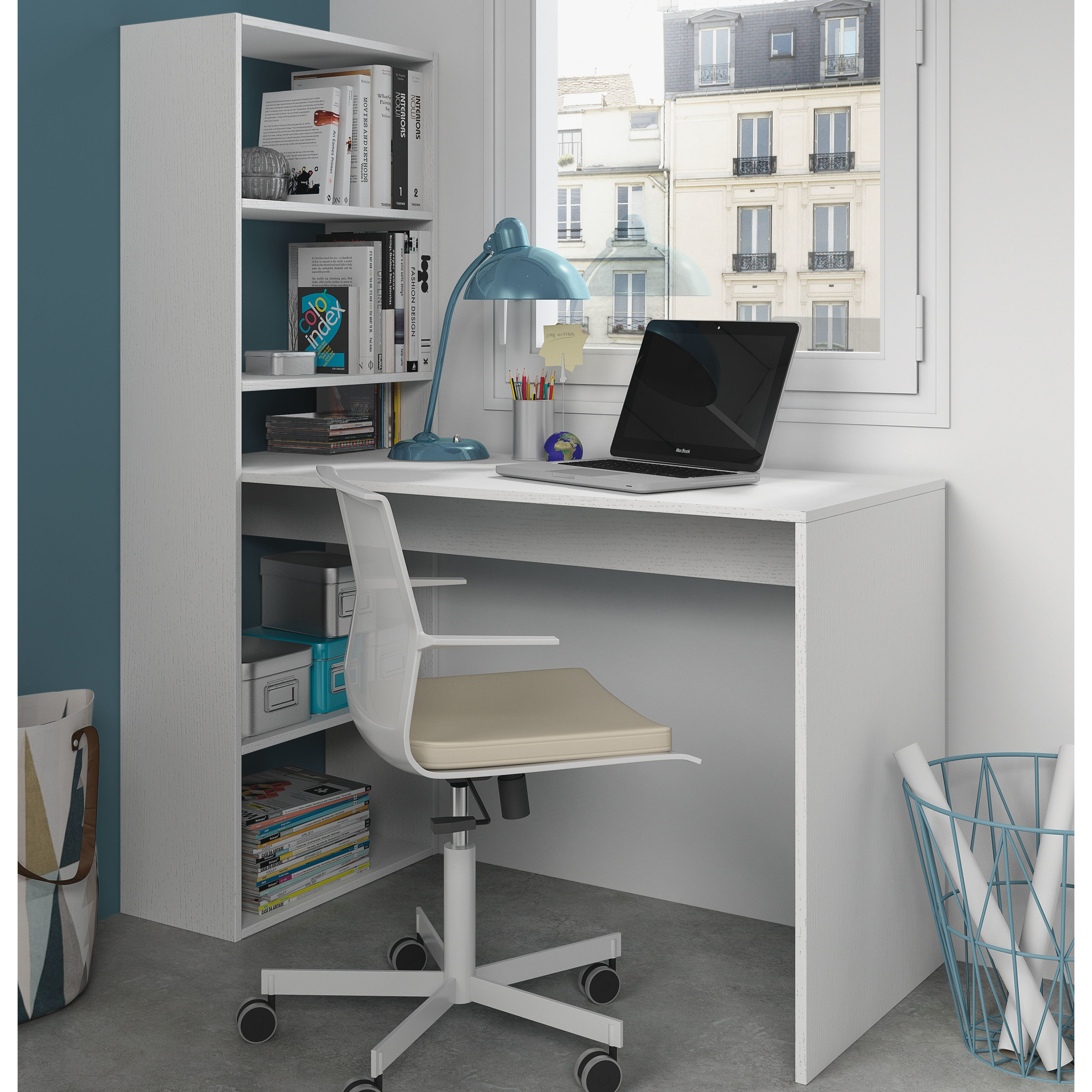 Silke Desk Bookshelf desk, Furniture, Study table designs