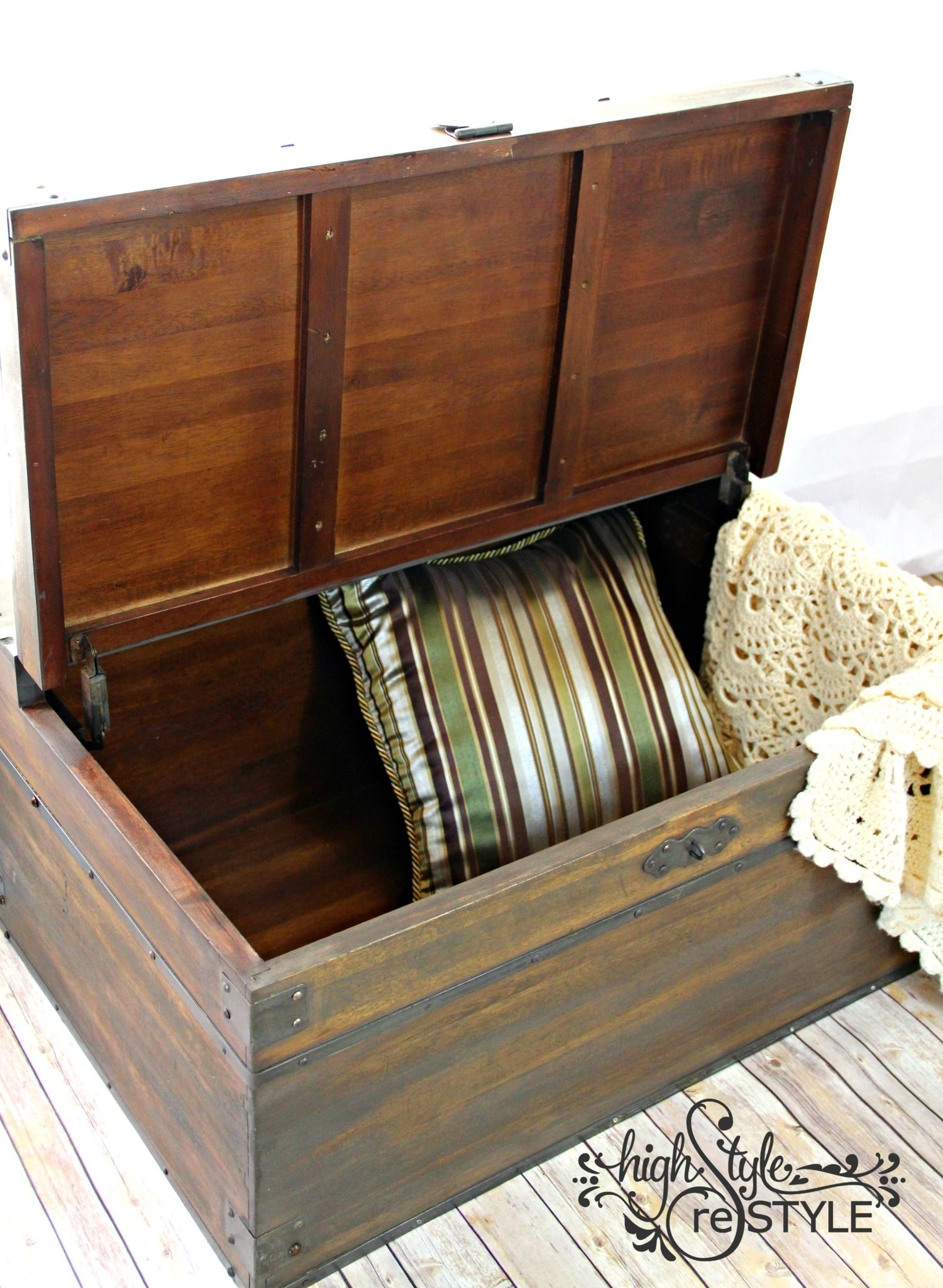 Farmhouse Vintage Trunk Makeover How To Fix Warped Wood Highstyle Restyle