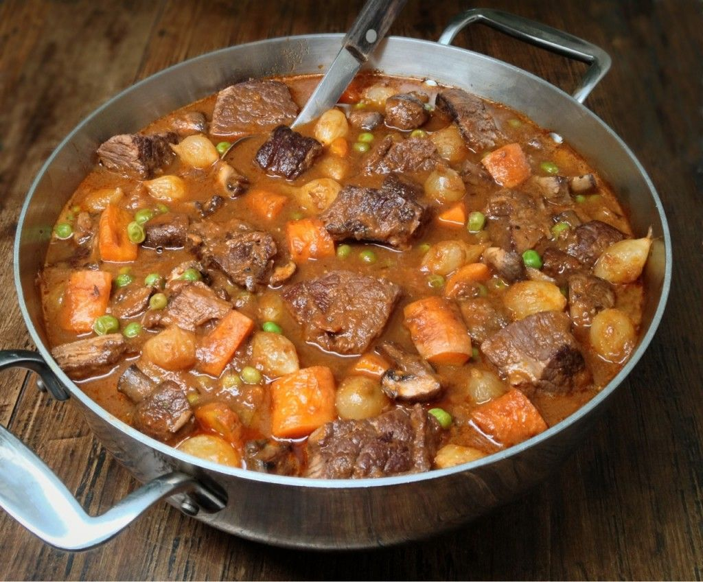 Beef Stew (Beef Bourguignon) with Lots of Vegetables - Low Carb, Gluten Free, Dairy Free