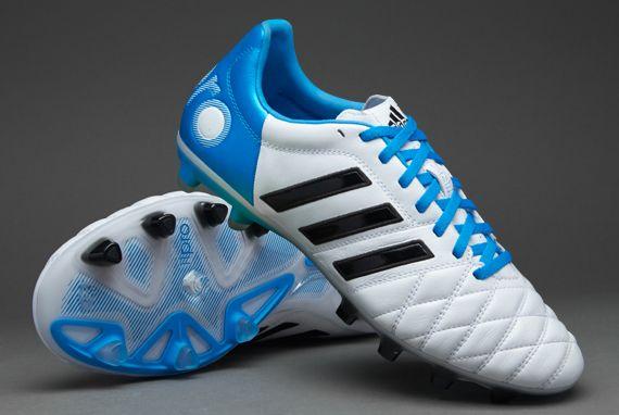 adidas adipure 11pro white black blue