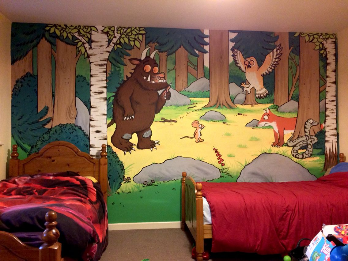 The gruffalo room make over kit 50 wall stickers the gruffalo gruffalo painted wallmural amipublicfo Image collections