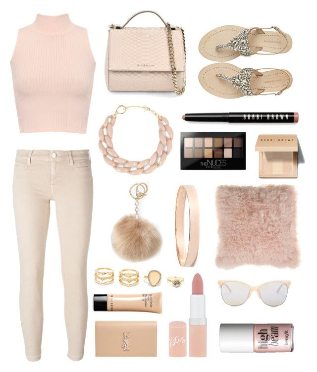 """""""nicely colored nude"""" by romanaroundski1 ❤ liked on Polyvore featuring WearAll, Antik Batik, Givenchy, Bobbi Brown Cosmetics, Jacob Cohёn, DIANA BROUSSARD, Maybelline, Bloomingville, Lana Jewelry and LA: Hearts"""