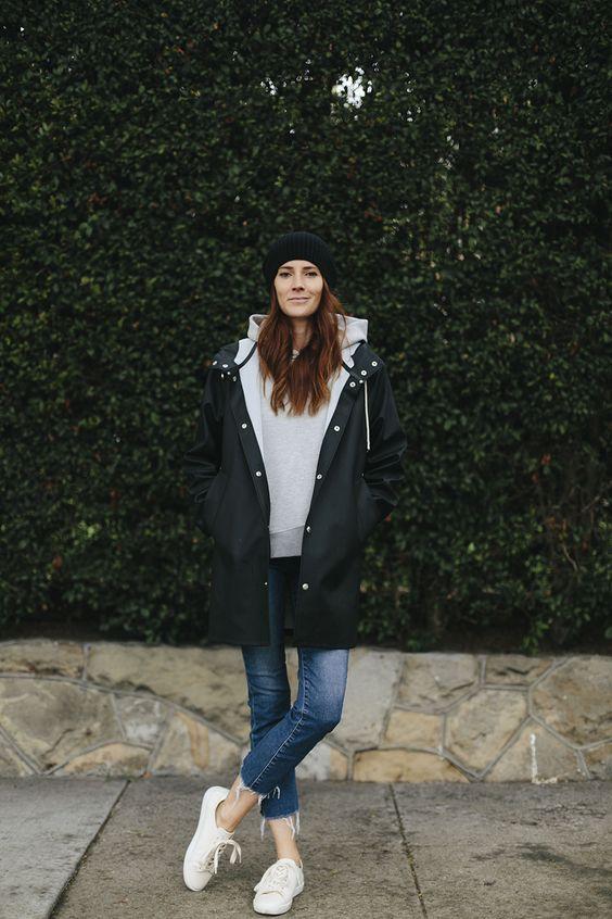 10 Regen-Outfits, bei denen Sie Ihren Stil nicht verlieren - Frauen Mode