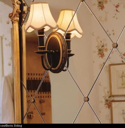 We are planning on a mirror detail like this in the master bathroom...