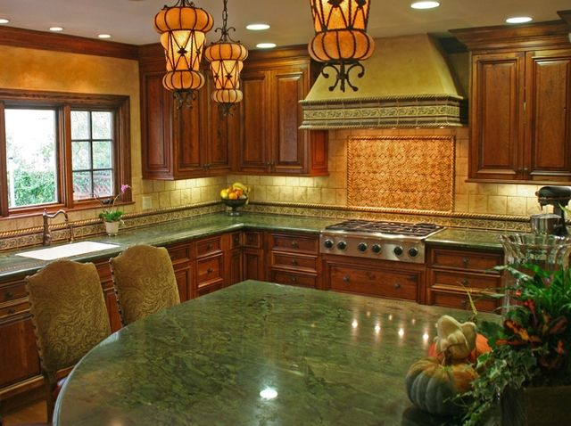 Green-Peace-Granite-Kitchen-Countertop-Island-Finished-Installed ...