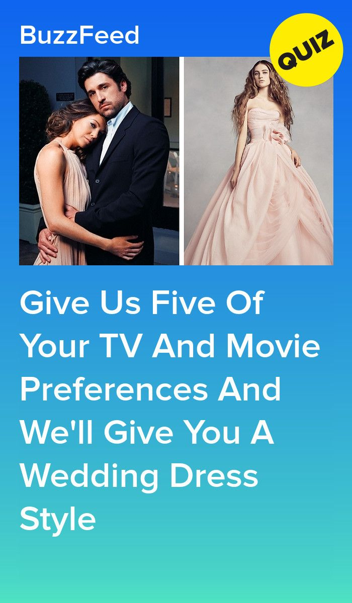 Which Wedding Dress Are You Based On Your TV And Movie Preferences? | Personality quizzes ...