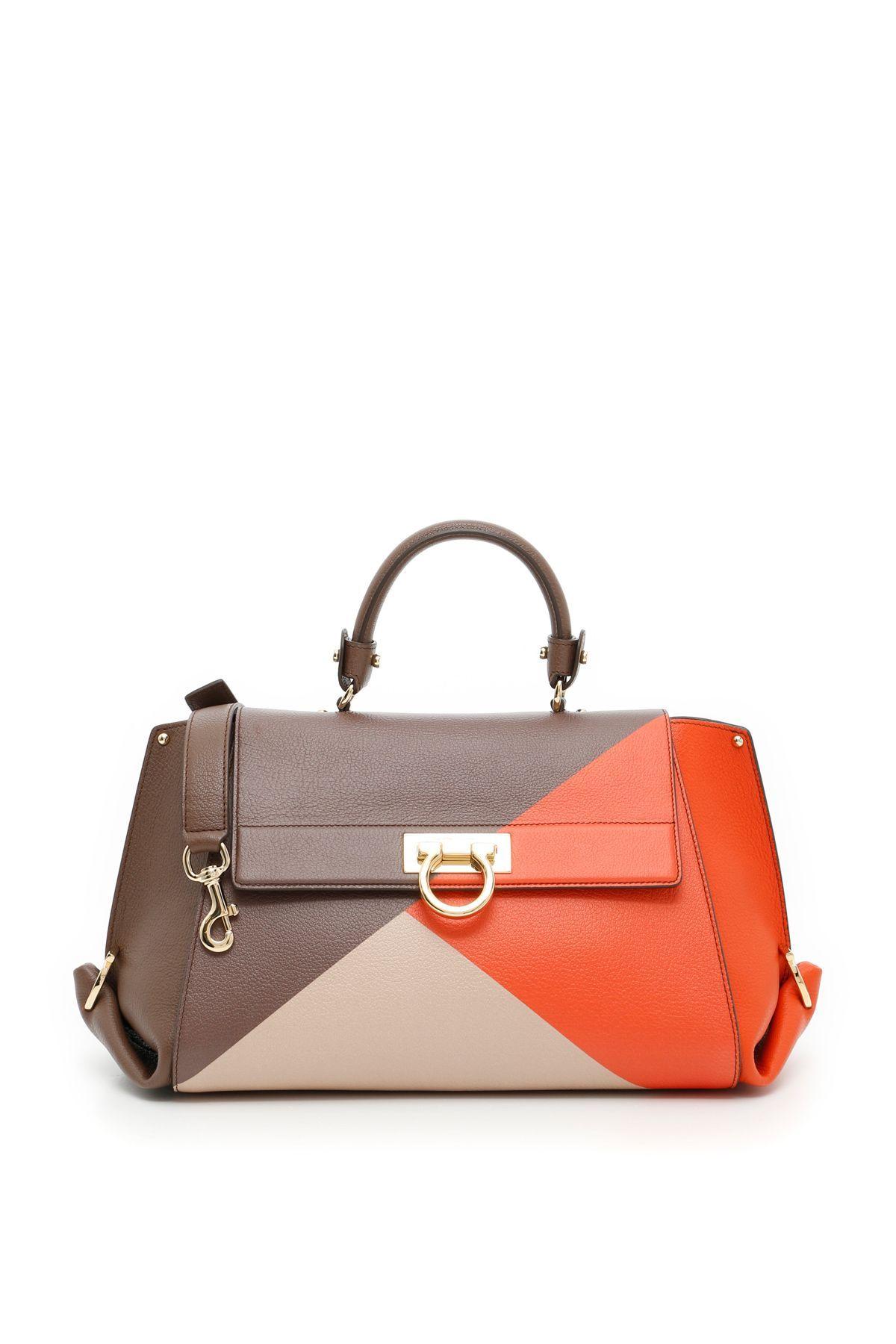 27f55bbec1 SALVATORE FERRAGAMO MULTICOLOR SOFIA BAG.  salvatoreferragamo  bags  shoulder  bags  leather  lining
