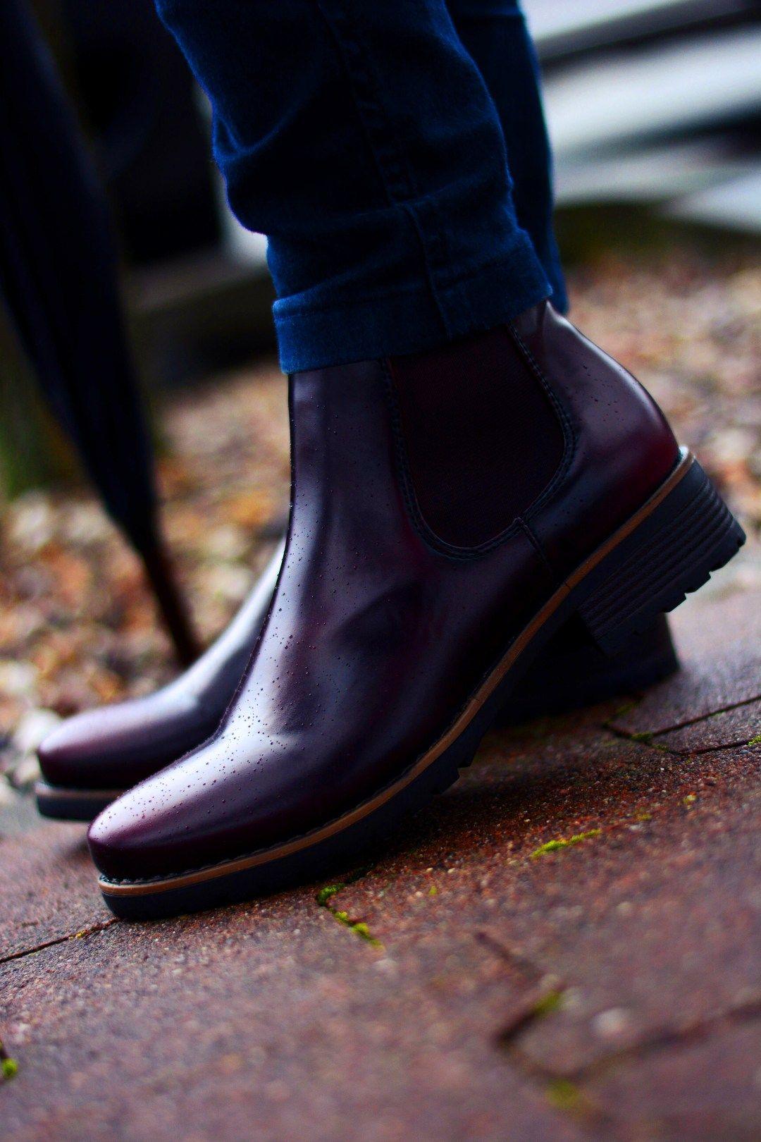 Stylizacja Na Jesien Kalosze Plaszcz Przeciwdeszczowy Parasol Chelsea Boots Boots Ankle Boot