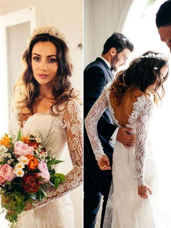 Appliques And Lace Wedding Dresselegant Mermaid Wedding Dresses