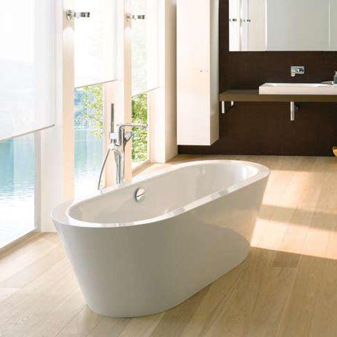 bette starlet oval silhouette sonderform badewanne wei mit multiplex m5 in chrom 2720. Black Bedroom Furniture Sets. Home Design Ideas