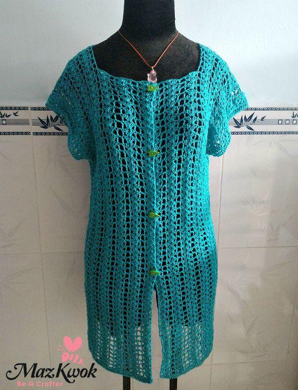 Summer Air Cardi Vest By Maz Kwok Free Crochet Pattern