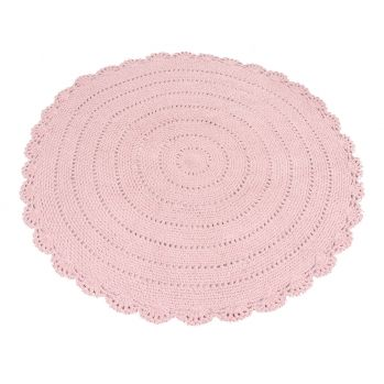 Runder Strickteppich Roundy Altrosa O 110cm Strickteppich Teppich Rosa Teppich Design