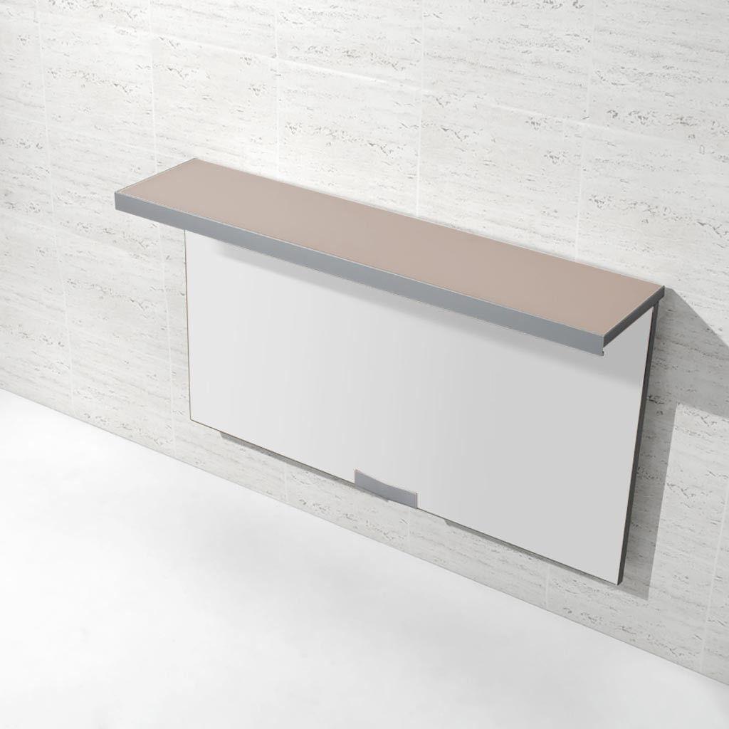 Mesa plegable para cocina con repisa en color tórtola modelo Wall ...