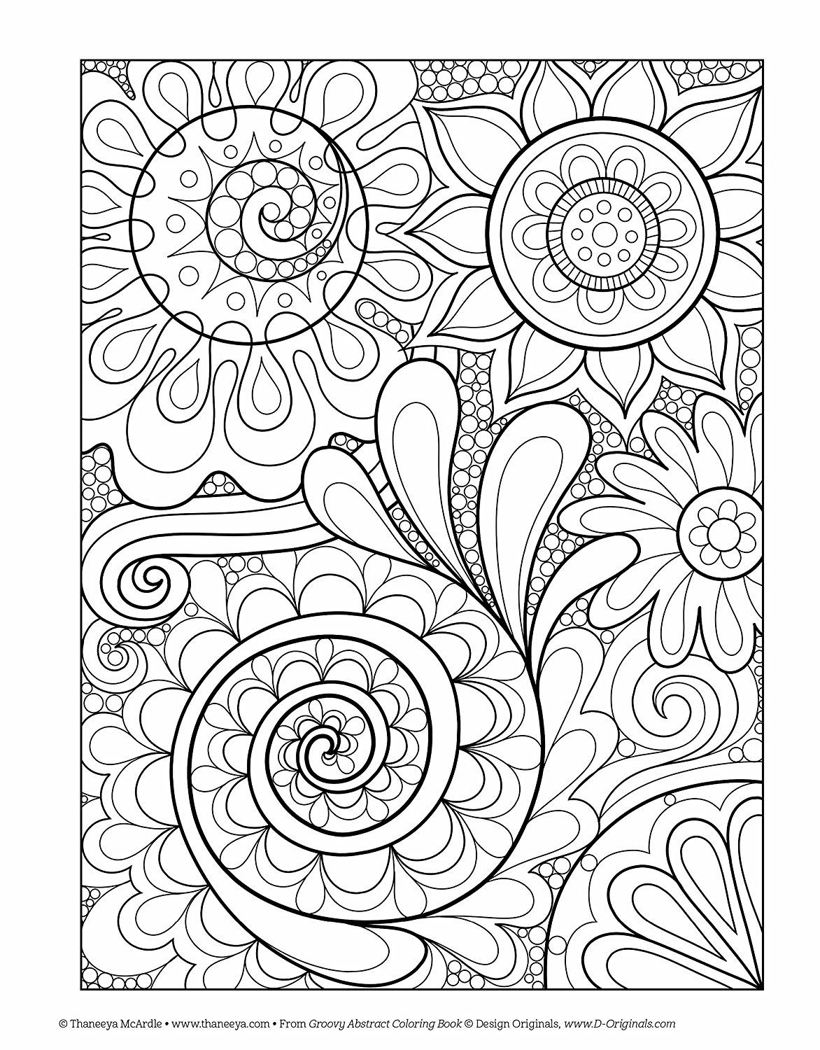 Groovy Abstract Coloring Book Amazon Thaneeya Mcardle