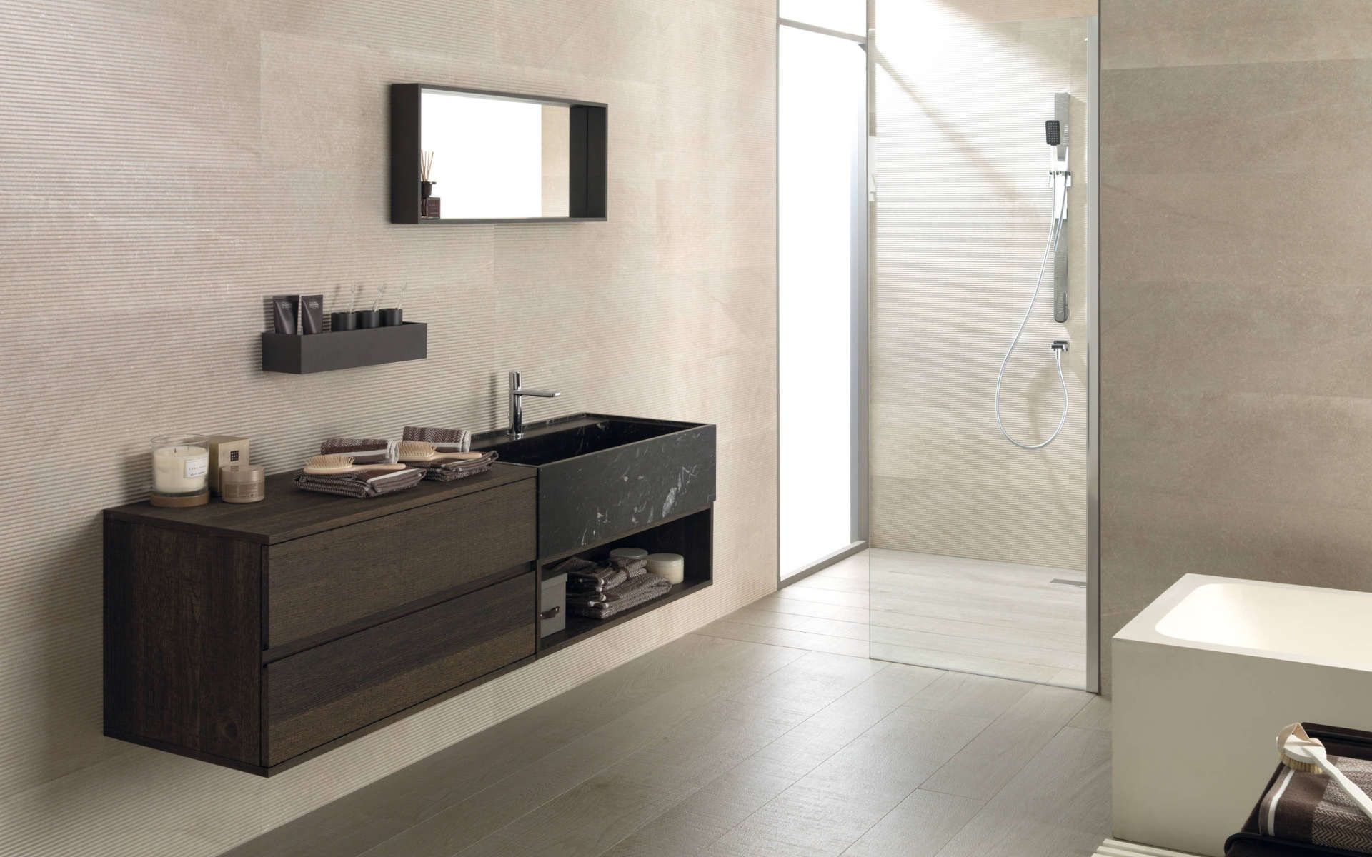 Bathroom Furniture Icon Roble Carbon Mobilier Salle De Bain Meuble Salle De Bain Idee Salle De Bain