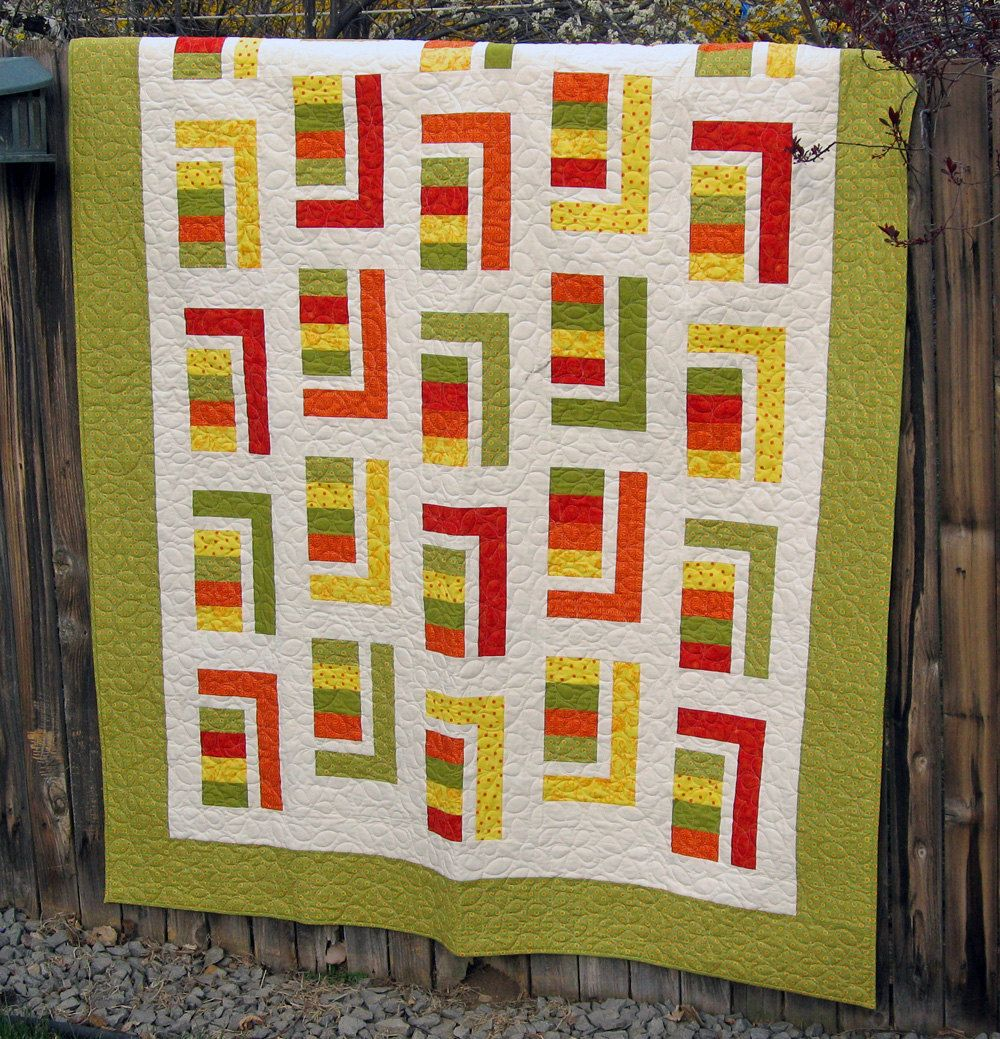 Twin Coverlet in Juicy Citrus Colors. .