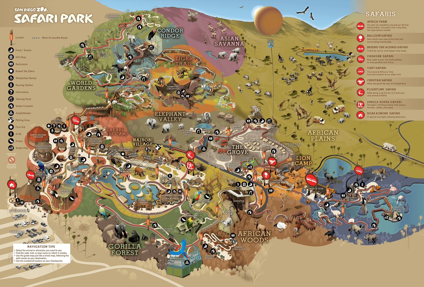 Find Your Next Adventure On The San Diego Zoo Safari Park Map San Diego Zoo Safari Park Zoo Map San Diego Safari Park