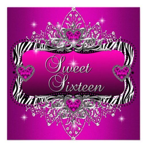 Sweet16SweetSixteenBirthdayPartyPinkBlackInvites Taras