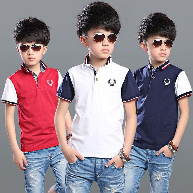 ecf635f7 Polo Shirts For Boys Brand Summer Boys Clothing Short Sleeve ...