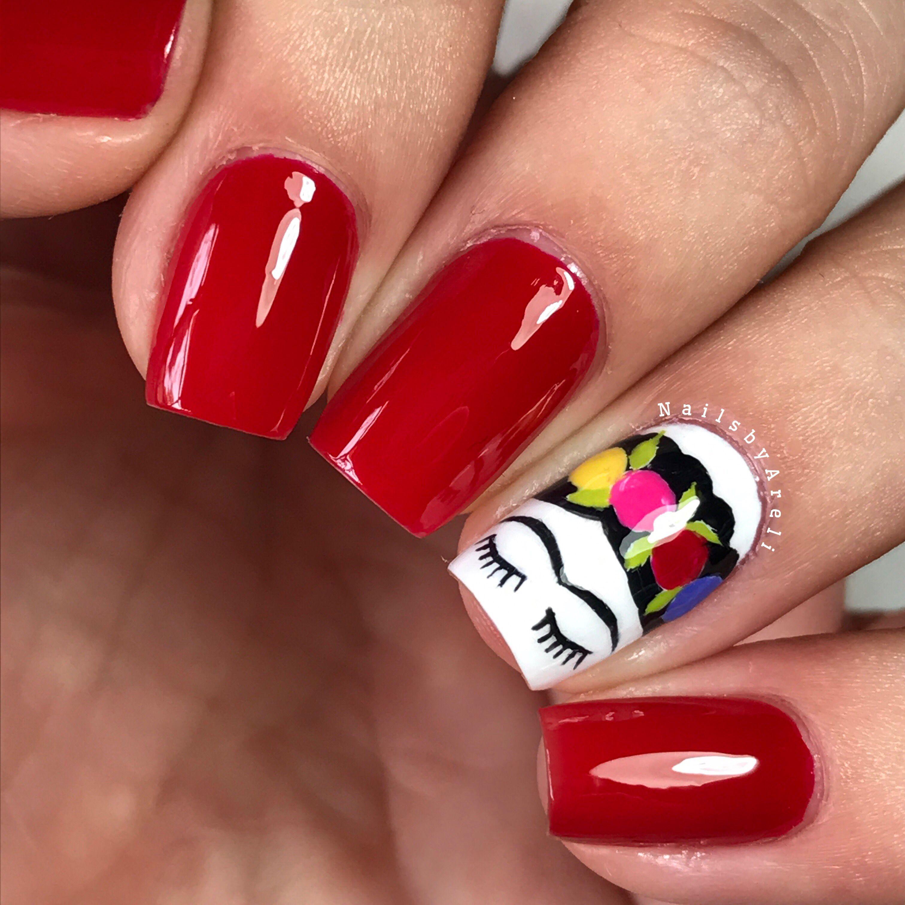 Frida Kahlo Nails❤ 🌵 #NailArt #NailsbyAreli #FridaKahloNails ...