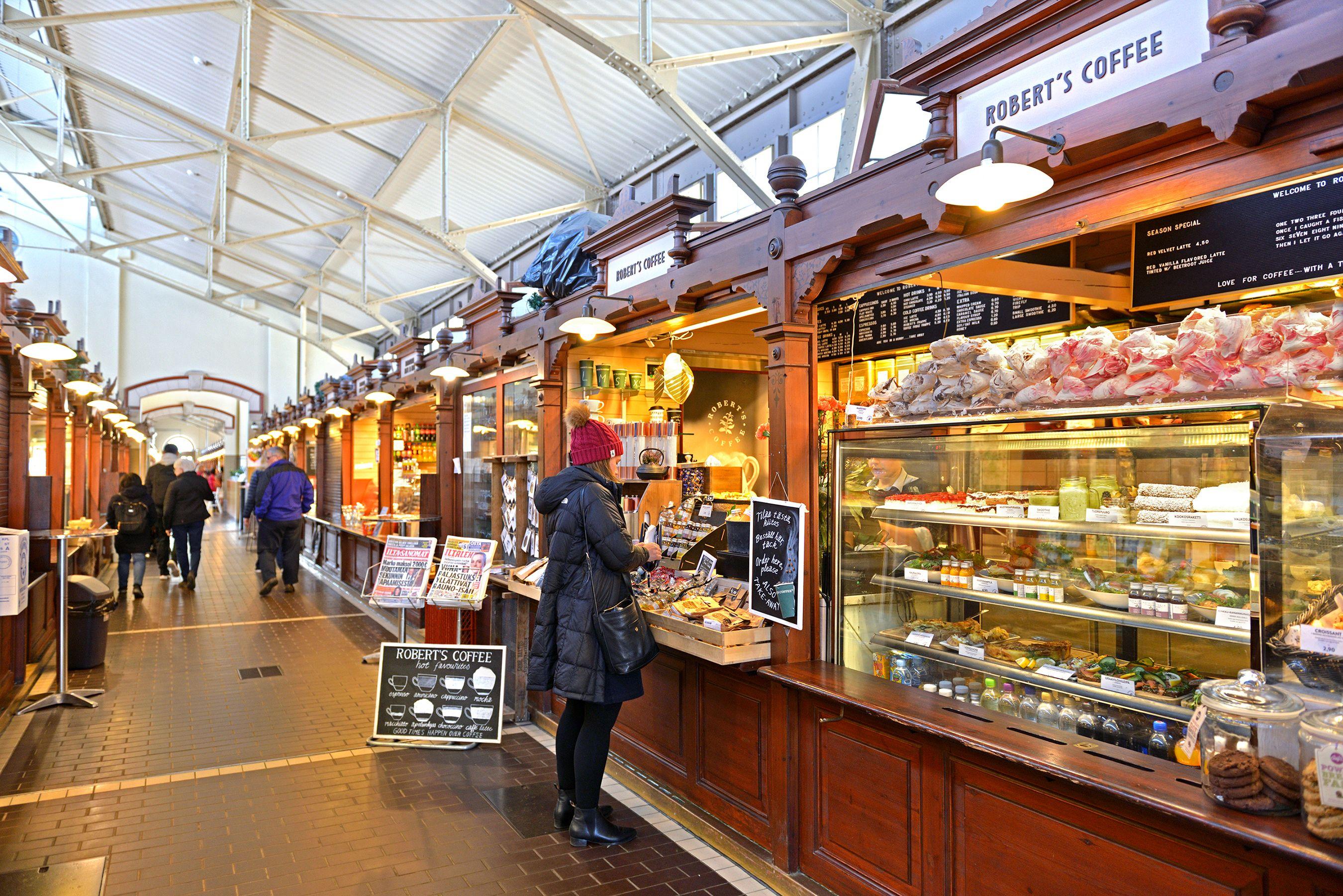 Helsinki market inside