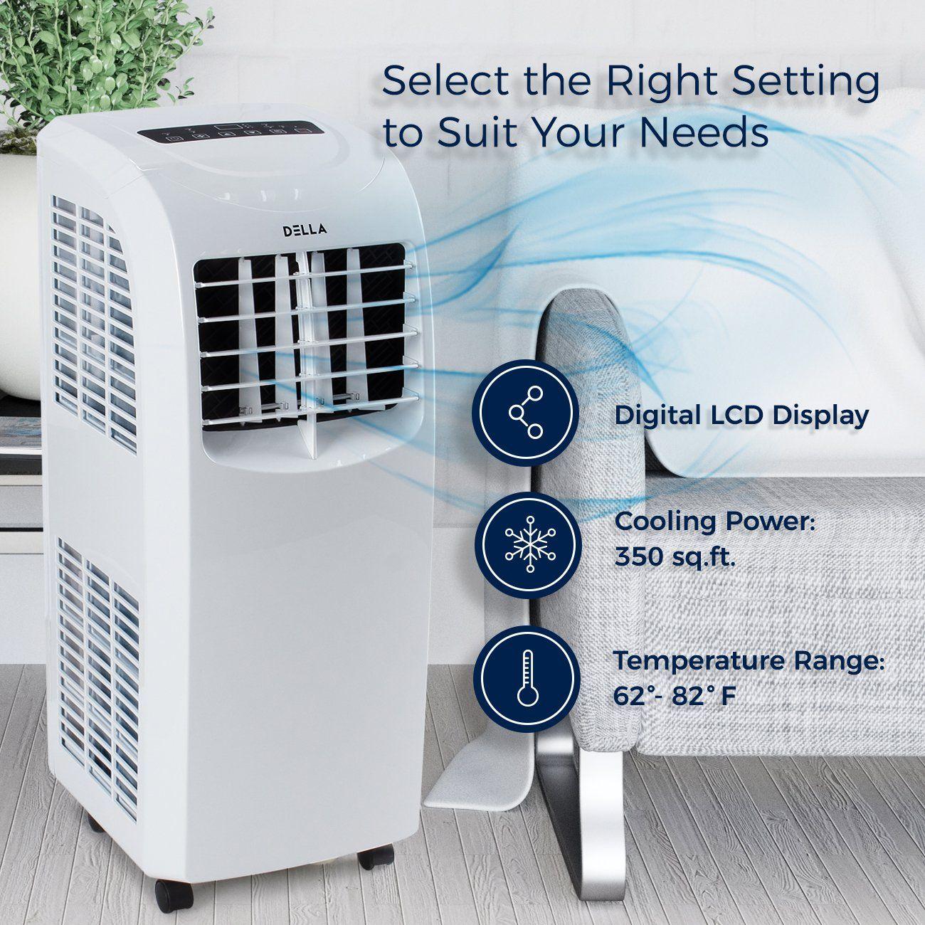 Della air conditioner cooling fan 8000 btu portable