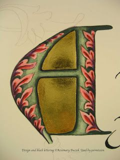 A Place To Flourish: Flourish Friday - Rosemary Buczek and The Illuminated Letter