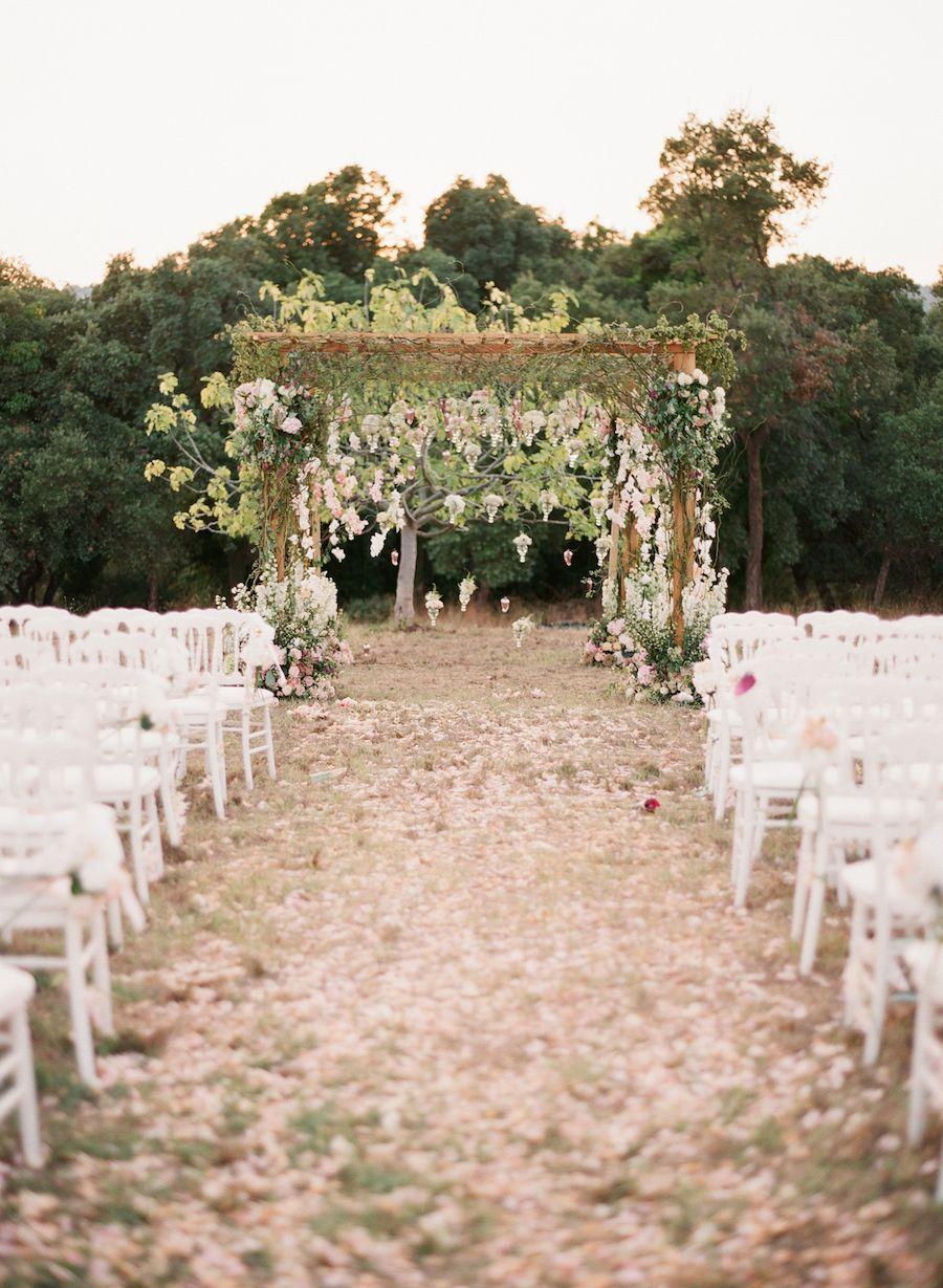 backyard wedding ceremony decoration ideas%0A Elegant Provence Wedding full of Romance  Bohemian WeddingsFairytale WeddingsGarden  WeddingsOutdoor WeddingsBeach WeddingsWedding Aisle