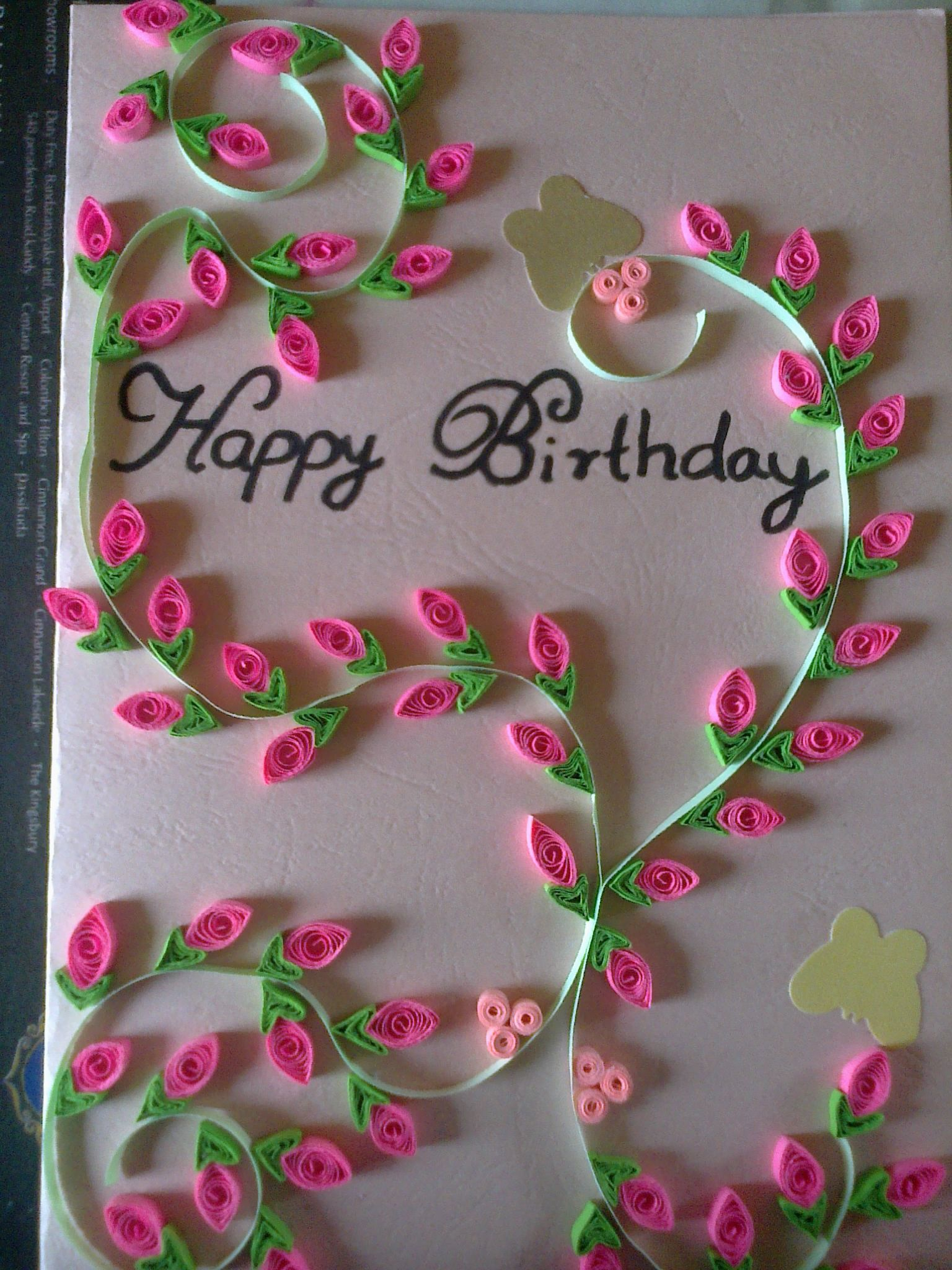Birthday Card For Sister Handmade Birthday Cards Quilling Cards Sister Birthday Card