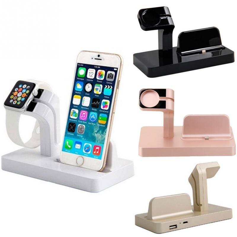 블랙 & 화이트 충전 도킹 스테이션 브라켓 크래들 스탠드 홀더 충전기 iphone 6 s plus 6 플러스/6/5 초/5c/5 i 시계