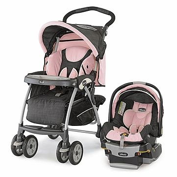 Chicco Keyfit 30 Cortina Travel System Bella Pink Baby Girl Car