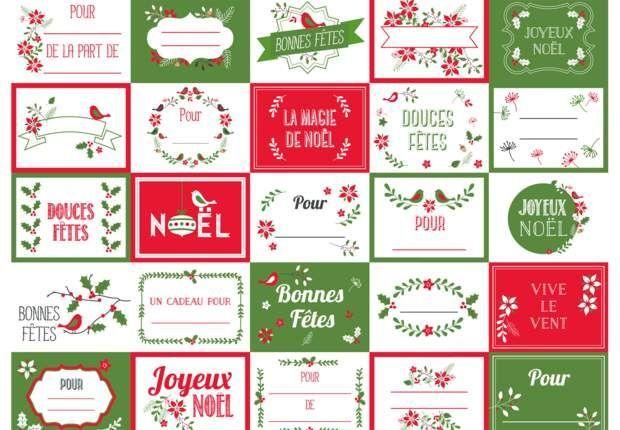 Des étiquettes de Noël à imprimer #etiquettesnoelaimprimer Etiquette design By PrimaImprimez après avoir agrandit notre planche exclusive d'étiquettes design pour des cadeaux de Noël chics et tendance. #etiquettesnoelaimprimer