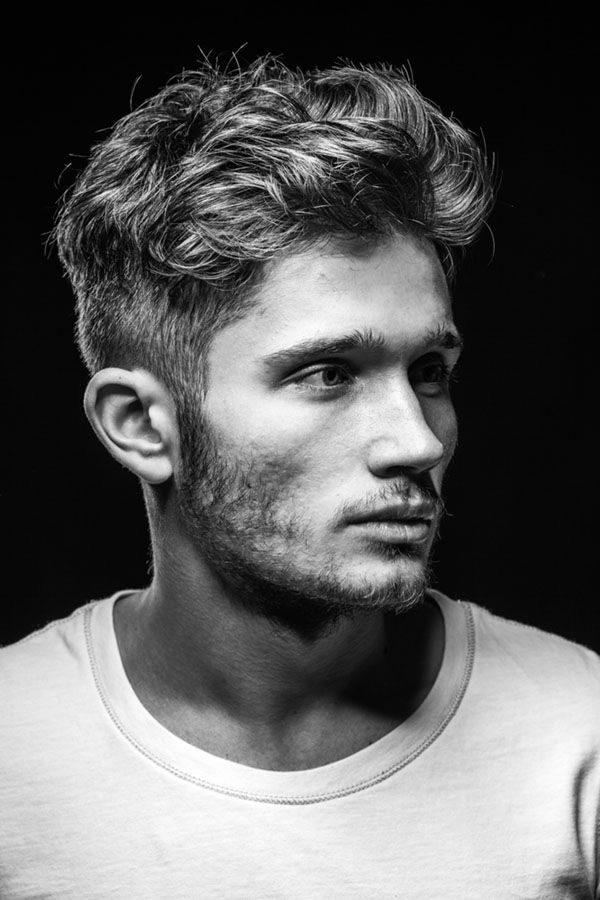 mens hairstyles for long hair. UNDERCUT with light curly top