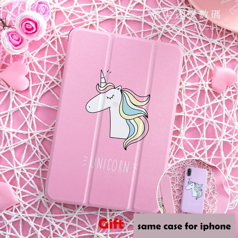 Cute Unicorn iPad Air 2 Case Smart Cover Pro 9.7 2017i Pad 12.9 10.5 Mini 2 3 4