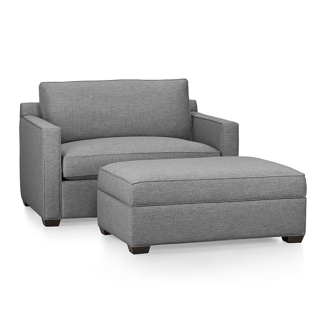 Twin Chair Sleeper Sofa Tall Wingback White Davis Crate And Barrel A Half House