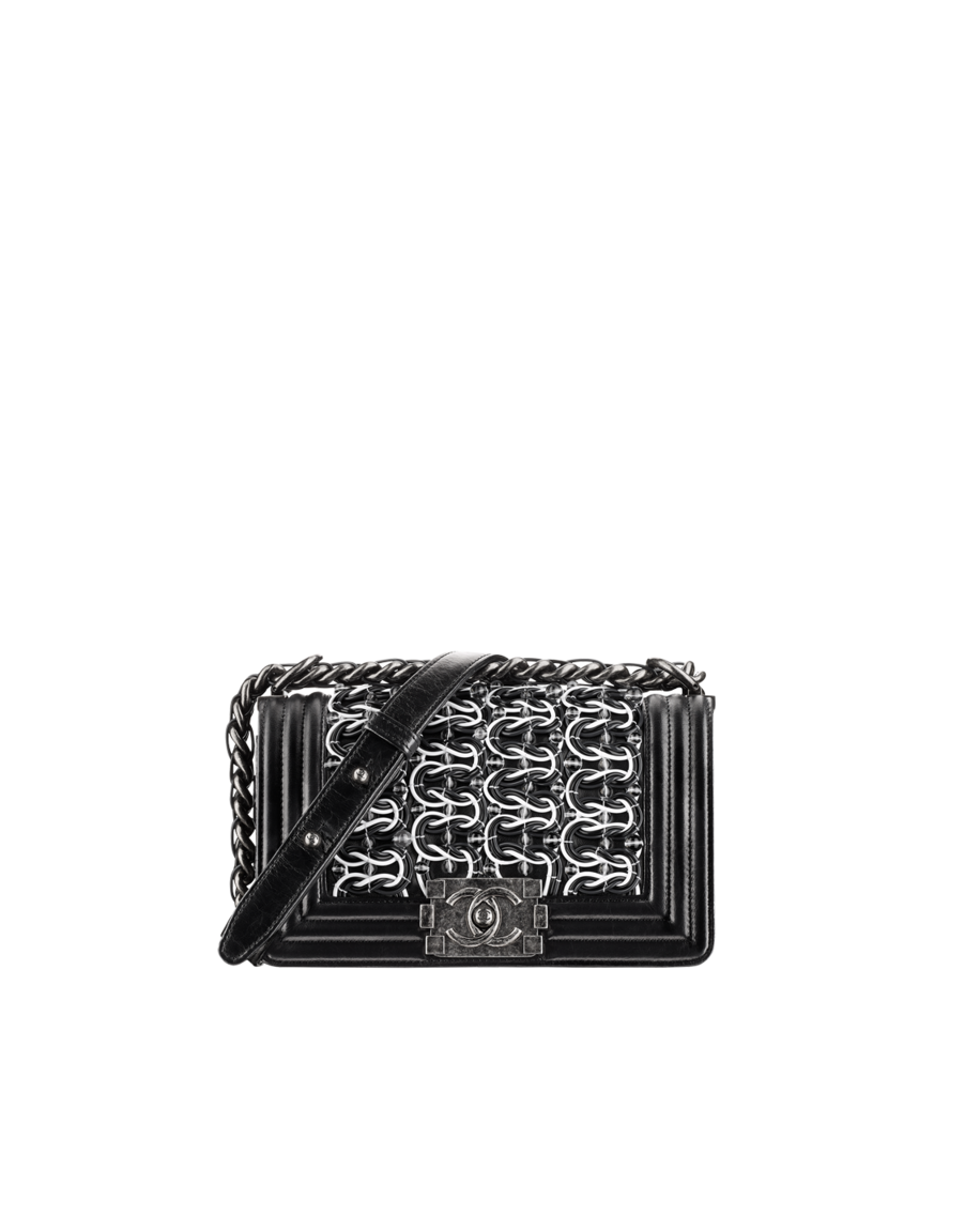 9c0bb41ceefc Small BOY CHANEL handbag, embroidered lambskin, calfskin & ruthenium  metal-black - CHANEL