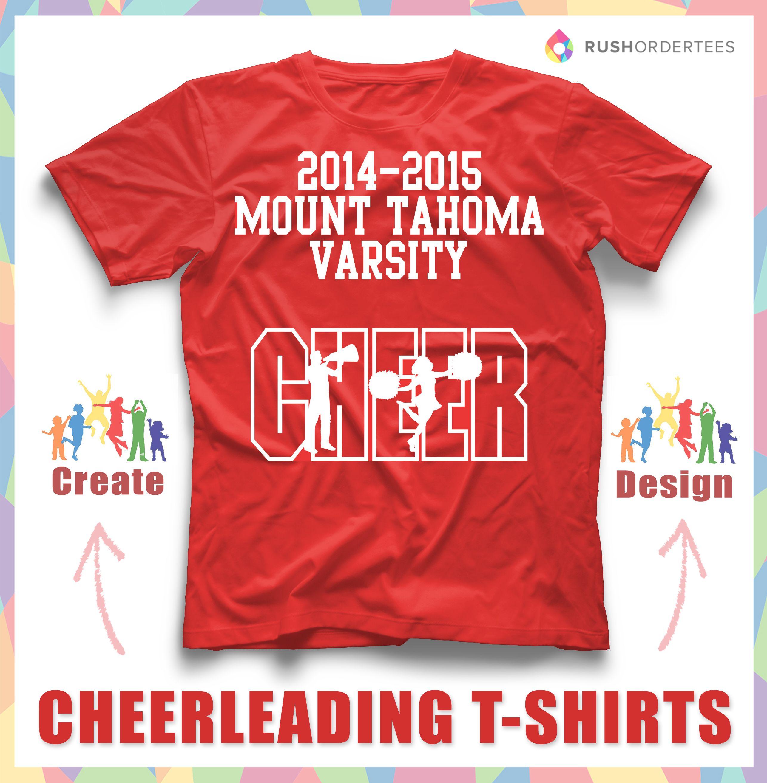 Cheer! Cheerleading custom t-shirt design idea's! Create custom ...