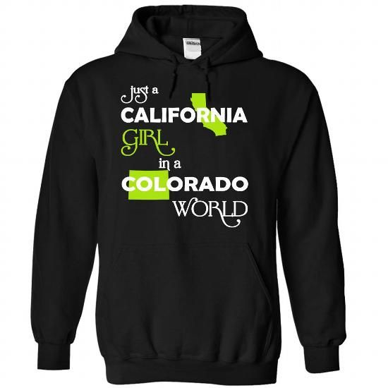 (CAXanhChuoi001) Just A California Girl In A Colorado W - #birthday gift #bridal gift. PURCHASE NOW => https://www.sunfrog.com/Valentines/-28CAXanhChuoi001-29-Just-A-California-Girl-In-A-Colorado-World-Black-Hoodie.html?68278