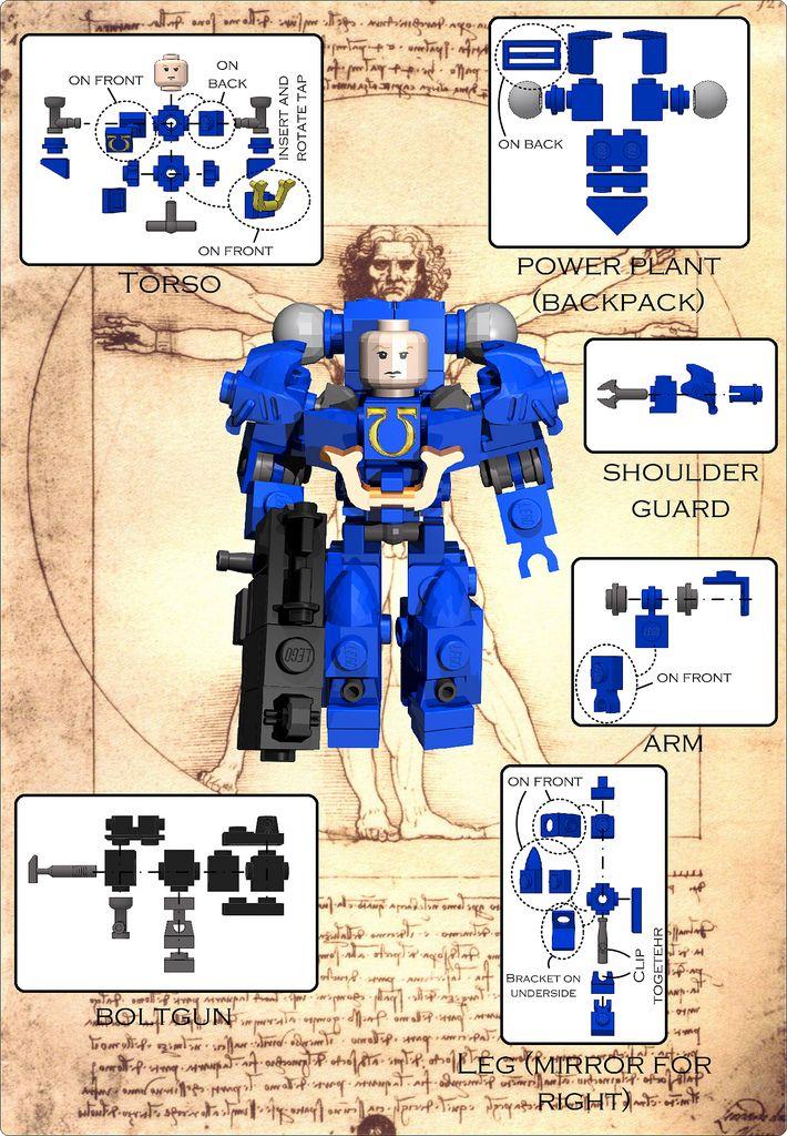 Space Marine Instructions Lego Stuff Pinterest Lego Lego
