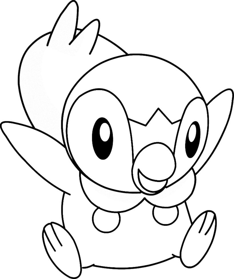 Pokemon Piplup Coloring Pages 203