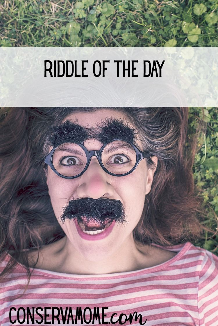 Riddle of the day Riddle of the day, Brain teasers, Silly