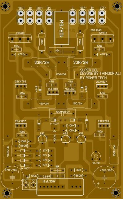 Pcb Big Socl Power Amplifier