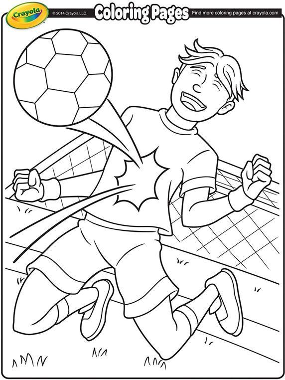 Soccer Player on crayola.com | motywy dziecięce | Pinterest ...