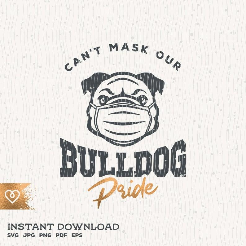Volleyball svg BULLDOG svg dxf mascot school Instant Download Iron On shirt DIY print volleyball high school printable team cheer mom
