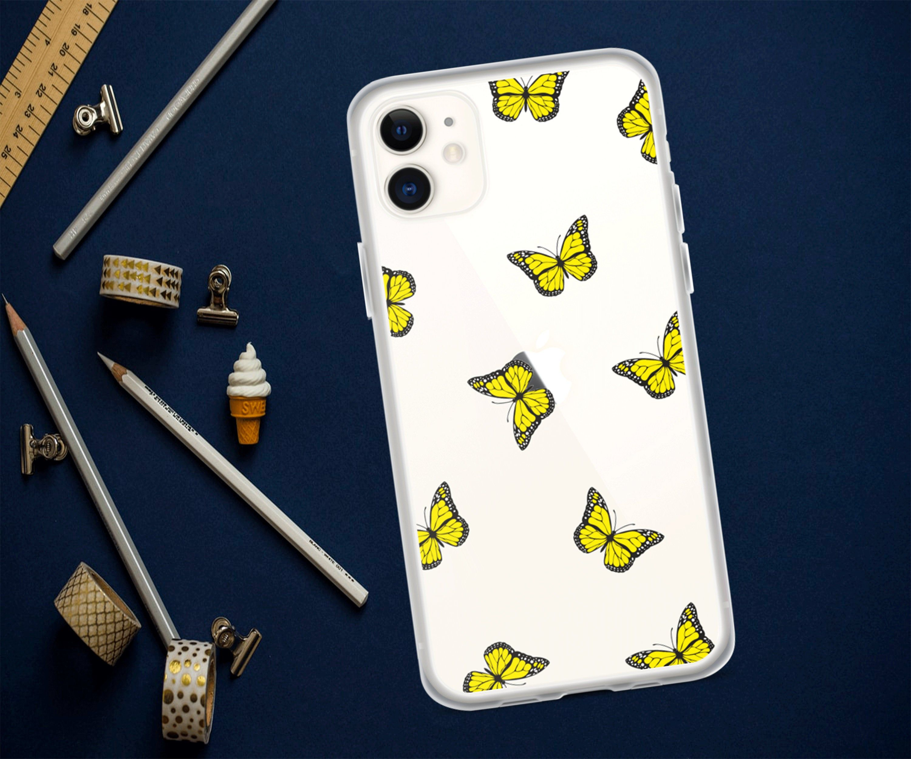 Clear butterfly iphone casesiphone 11 caseiphone 11 pro