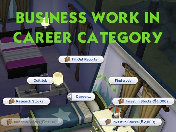 Mod The Sims: Business Work In Career Category by Sleepy