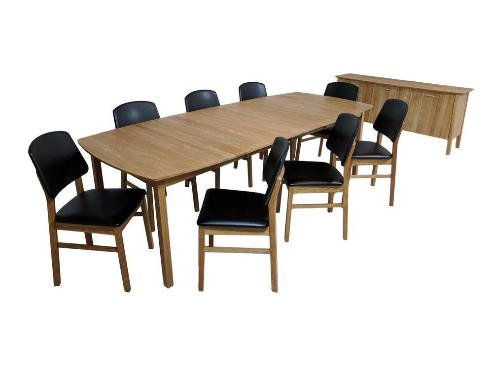 Check Out Scandinavian Dining Set Credenza 8 Chairs Large Table