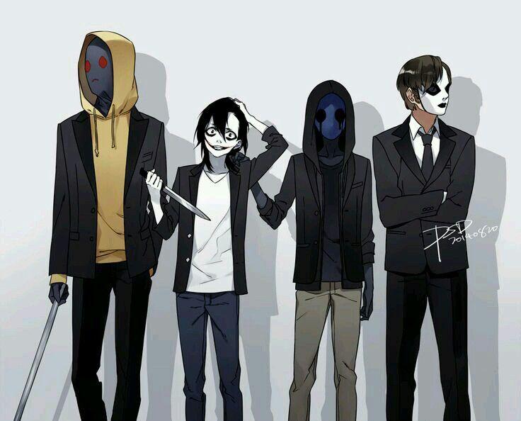 Hoodie,jeff,eyelessjack,masky the deadly ones | creepy ...